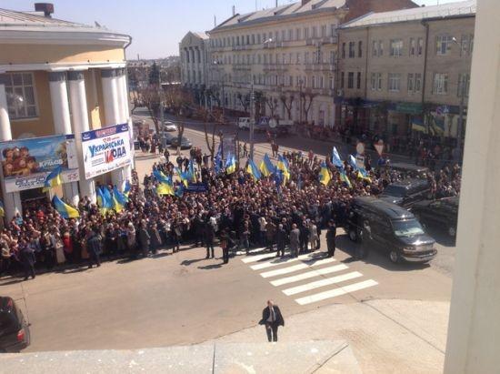 Вице-президента в Виннице встречают тыс союзников