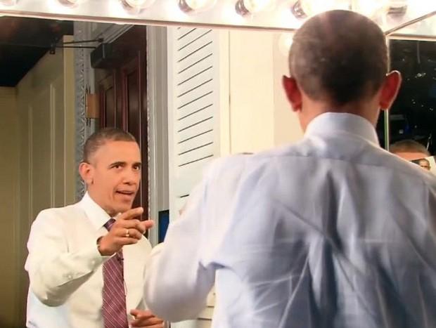 Обама мелькнул ощущением юмора, снявшись в видеоролике Спилберга