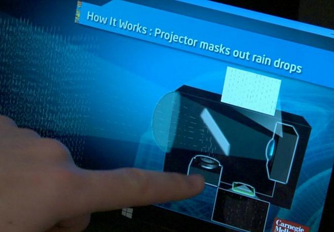 Intel разработала передние фары антидождь