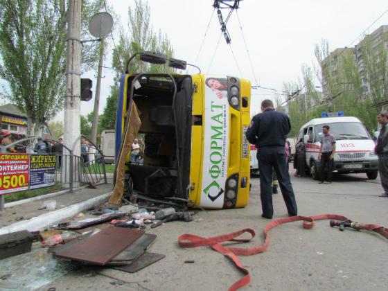 В Донецкой обл. в итоге ДТП травмировано 25 пассажиров