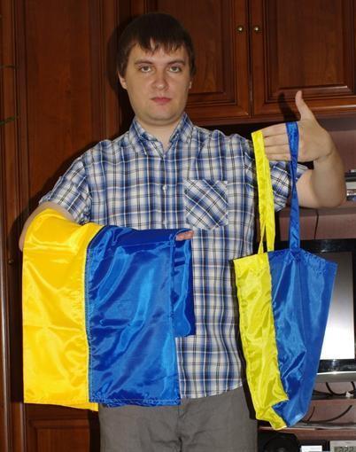 Во Львове шьют сумки из российского флага