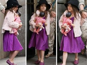 Семилетняя дочь Тома Круза пускает полосу популярной одежды