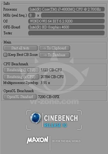 Мощность микропроцессора Intel Core i7-4800MQ (Haswell)