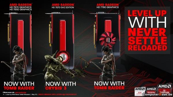 AMD представляет предложения платформы Never Settle Reloaded