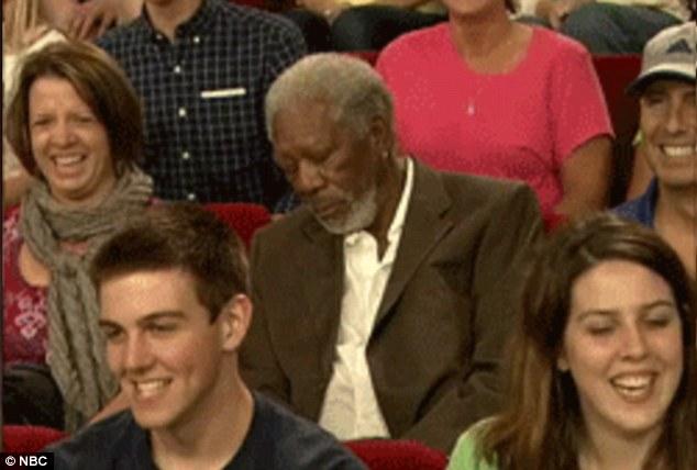 Морган Фримен вновь заснул на телешоу (фото)