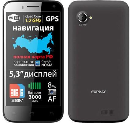 """Explay Navigator: четырёхъядерный 5,3"""" телефон"""