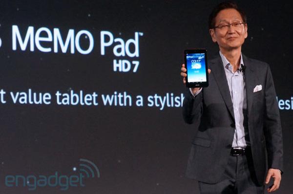 Микропланшеты ASUS MeMo Pad FHD 10 и MeMO Pad HD 7, официально