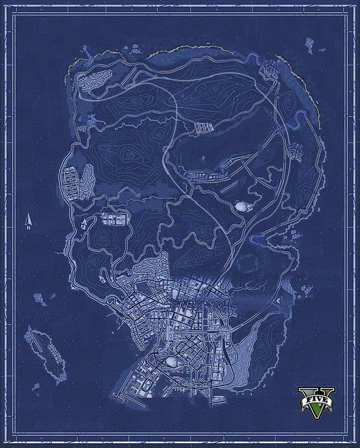 Поклонники GTA V собрали карту игрового мира