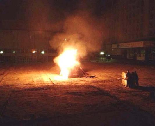 Абитуриенты КПИ сожгли строй забор