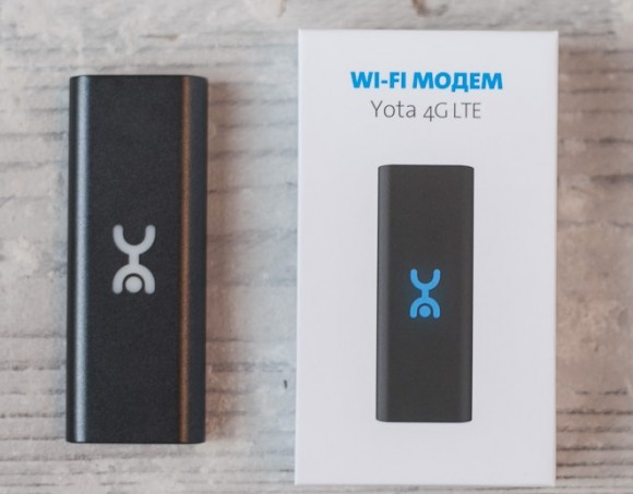 Yota продемонстрировала LTE-модем с раздачей Wifi