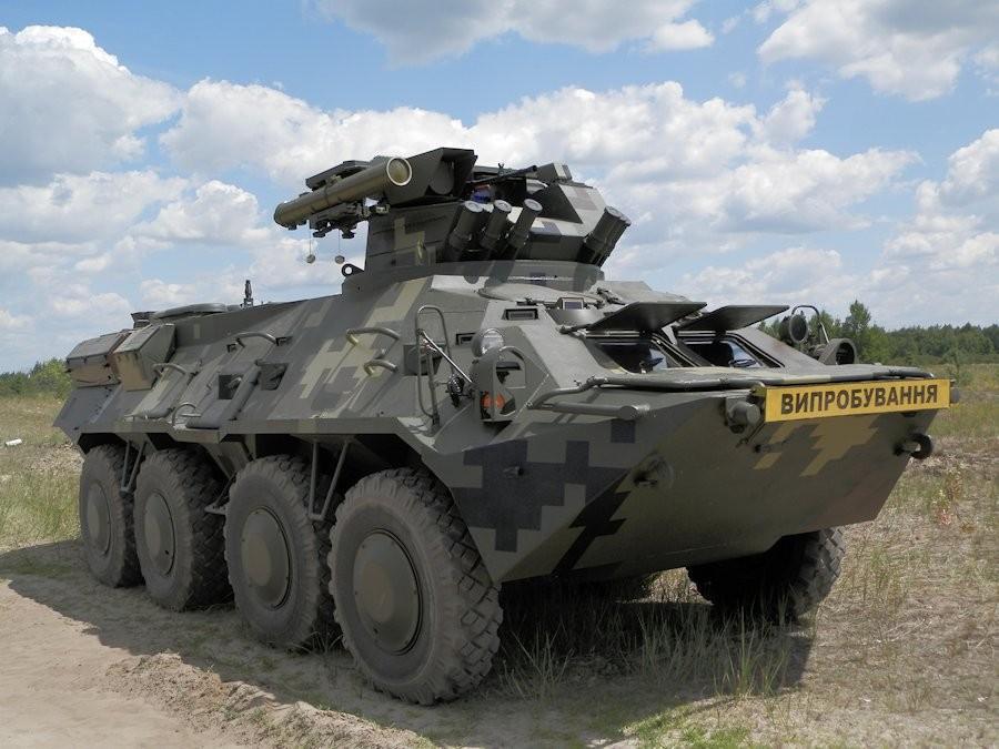 На Украине провели проверки нового БТР-ЗРК