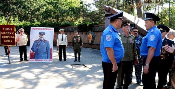 В Крыму случилась драка из-за портрета Сталина