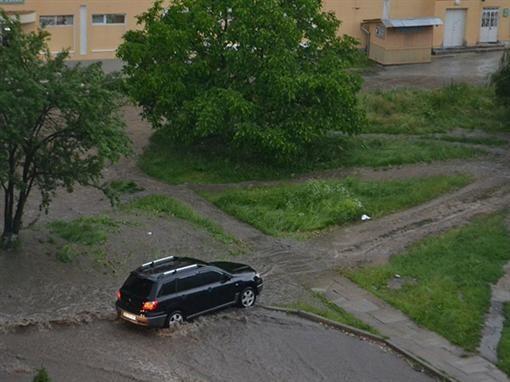 Тернополь поплыл после сильного дождя