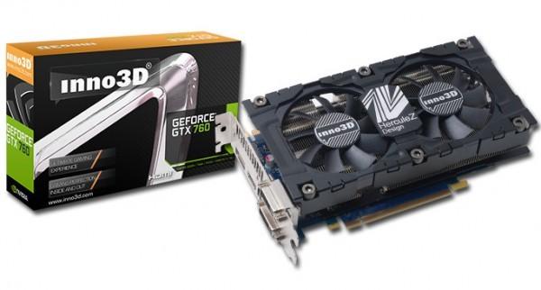 Inno3D рекомендовала 3 свои версии GeForce GTX 760