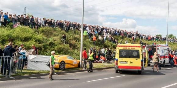 В Польше в процессе авто-шоу автолюбитель Феррари сшиб 19 человек