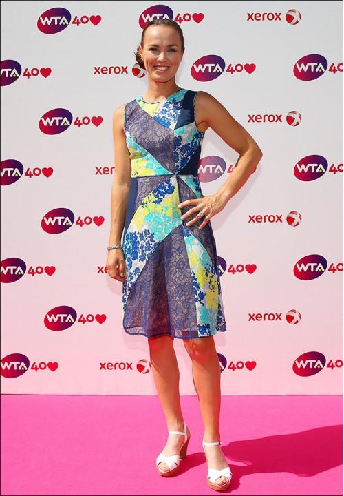 Празднование 40-летия WTA: теннисистки в вечерних платьях