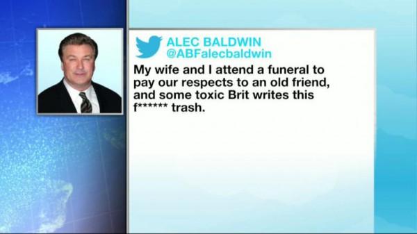 Алек Болдуин в Твиттер выругал корреспондента и удалил аккаунт