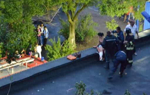 На Одесчине девушка снизилась на крышу магазина