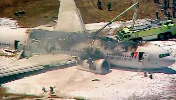Крушение Boeing-777 в Сан-Франциско: детали трагедии