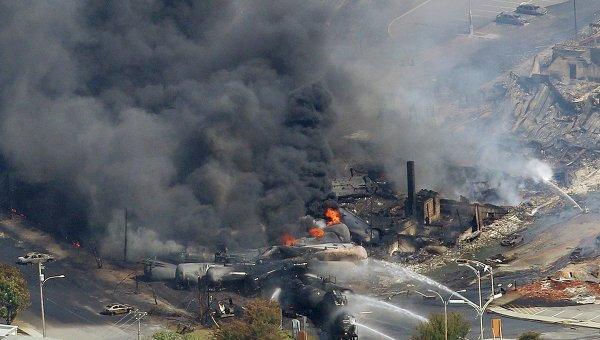 После взрыва поезда в Канаде 100 человек исчезли без вести