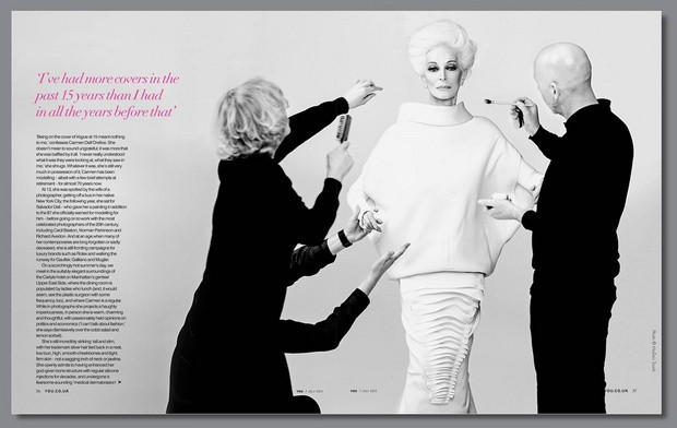 Обложку YOU Magazine украсила 82-летняя подиумная модель