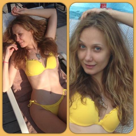 Е. Власова сообщила в интернет фото в бикини (фото)