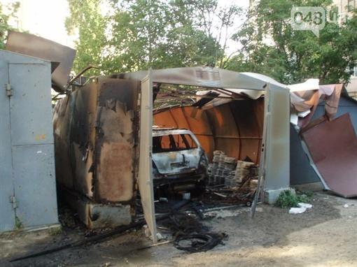 В Одессе авто подорвался в авто гараже