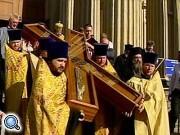 В Столицу доставили крест Андрея Первозванного