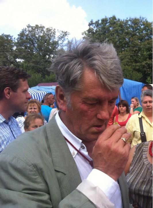 Ющенко удивил жителей Тернополя