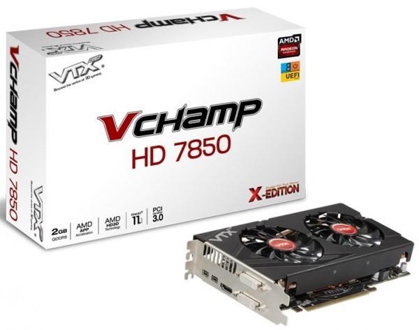 Ускорители Radeon HD 7850/7790 V Champ от компании VTX3D