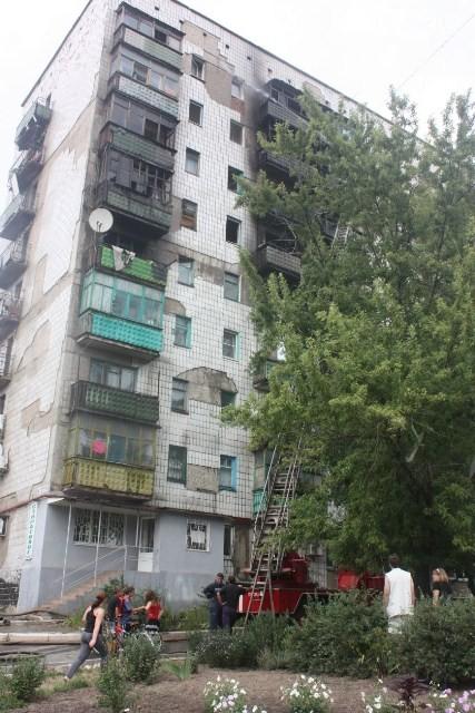 В Горловке пылал дом (ФОТО)