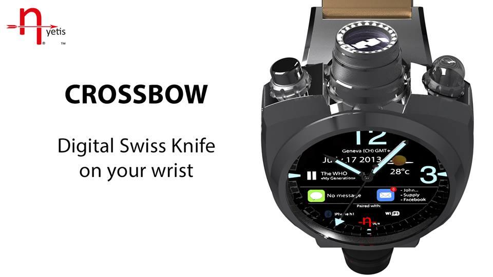 Интеллектуальные часы Hyetis Crossbow с 41-мегапиксельной видеокамерой