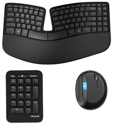 Свежие комплекты клавиатура+мышка Майкрософт серии Sculpt