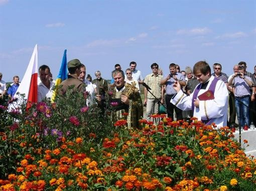 На Львовщине поставили монумент чешским добровольцам
