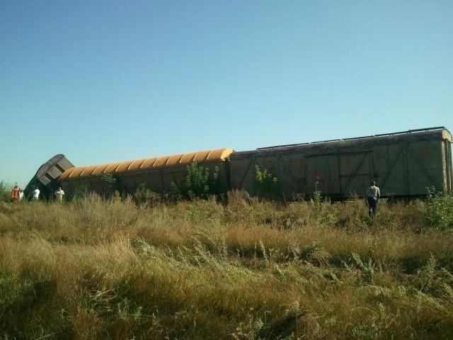В России перевернулись 3 вагона с тротилом (ФОТО)