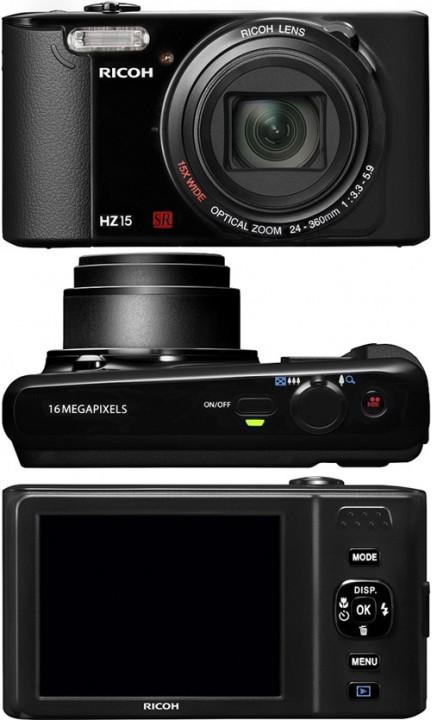 Ricoh HZ15: малогабаритная камера с 15х зумом