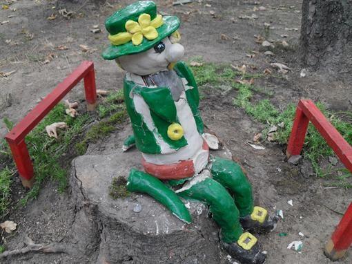 В Киеве разбили детские площадки