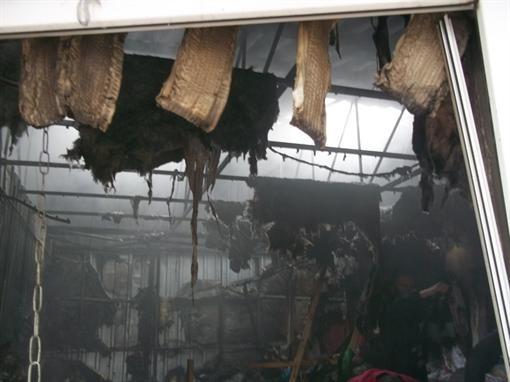 В Полтавской области пылал рынок