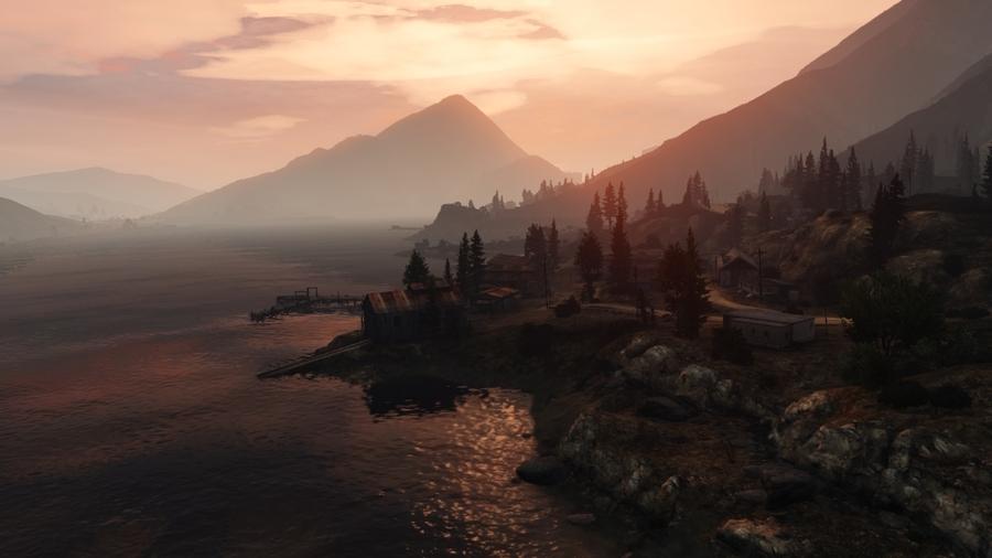 Снимки экрана GTA 5 - главные герои и средства перемещения