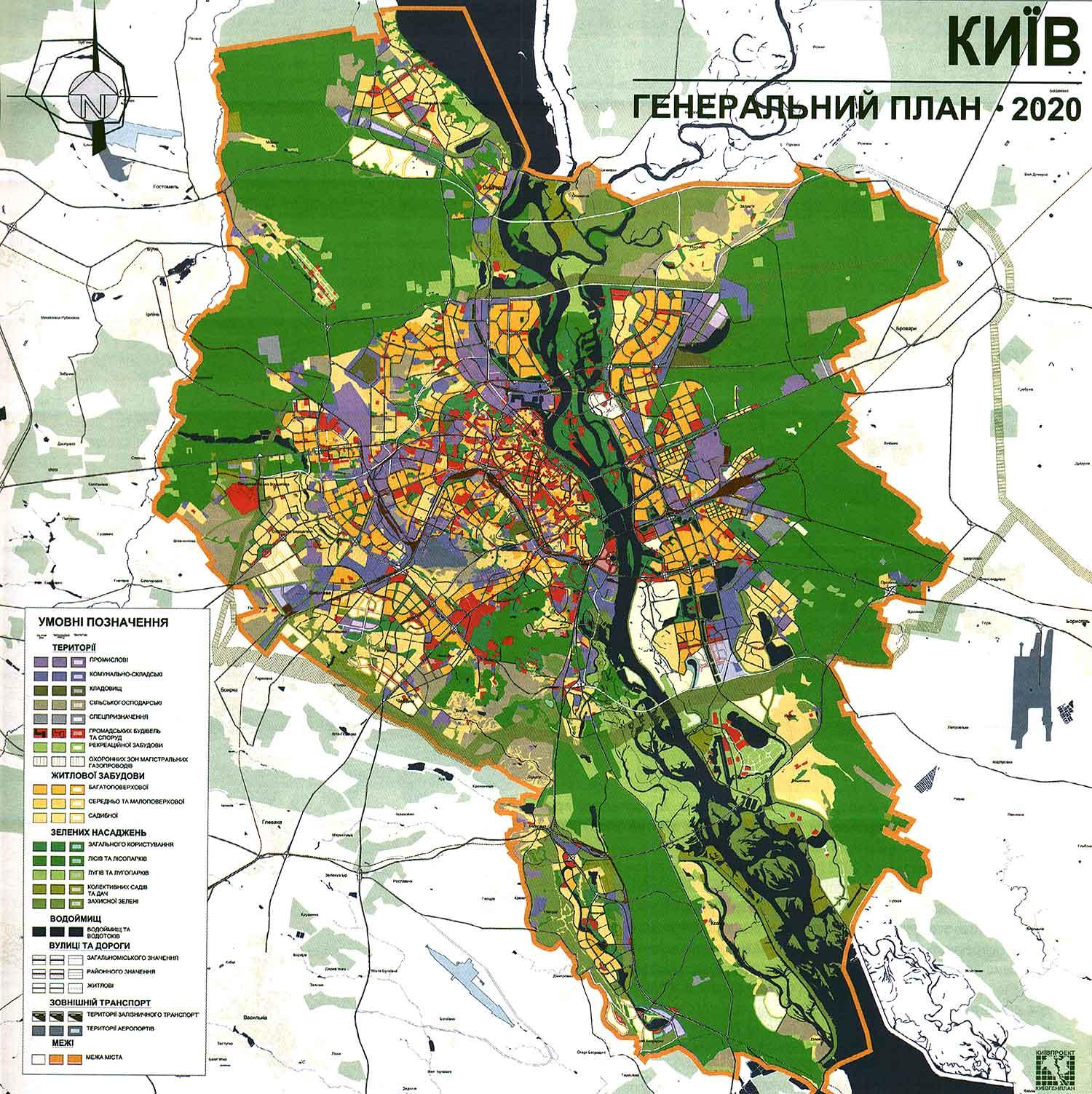 Свежий генплан Киева расположили на веб-сайте создателя