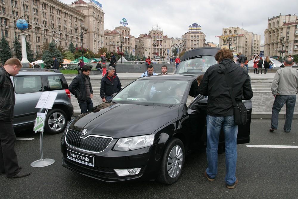 На Майдане состоялась демонстрация ряда моделей Шкода