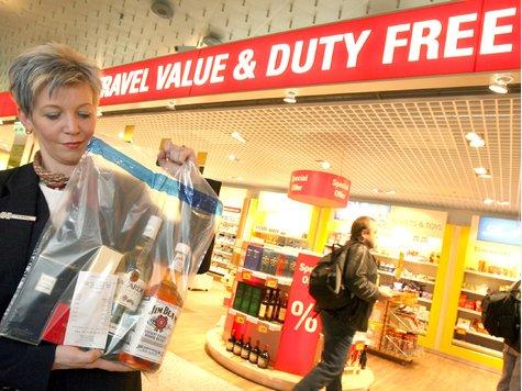 В супермаркетах duty-free клиенты будут показывать документ