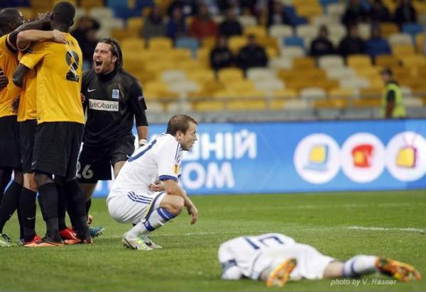 Фотогалерея: Динамо проиграло бельгийцам под свист посетителей