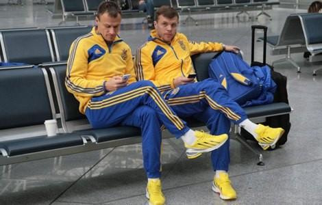 Сборная Украины на пути в Харьков
