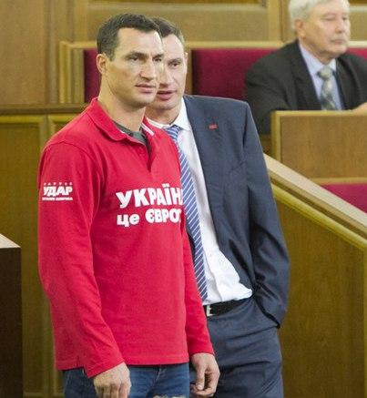 В. Кличко продемонстрировал брату Верховную раду