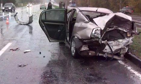 В страшном троичном ДТП в Симферополе были убиты люди (ВИДЕО)