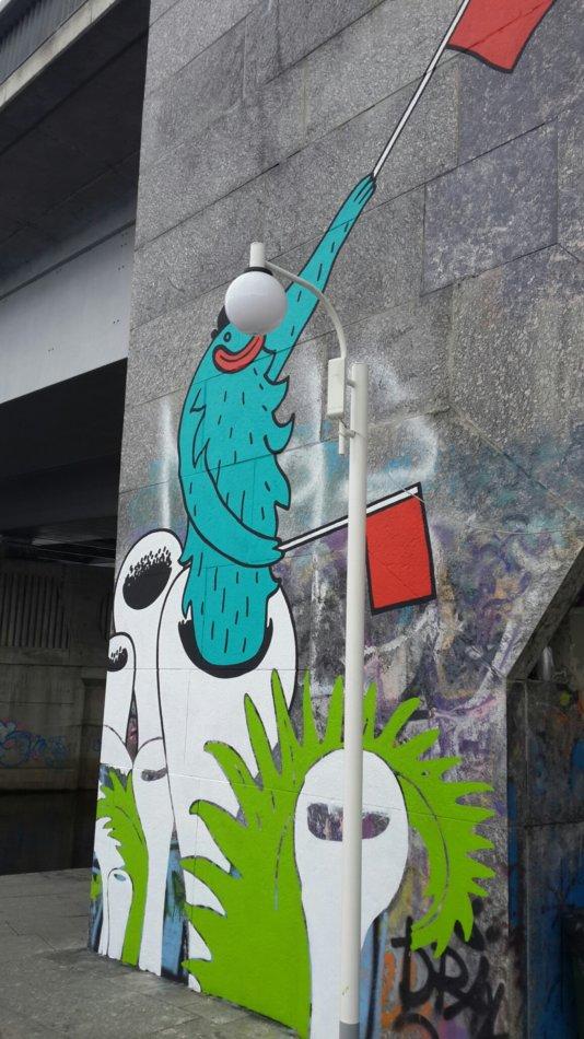 В Киеве на Арт-причале свежий 3D стрит-арт