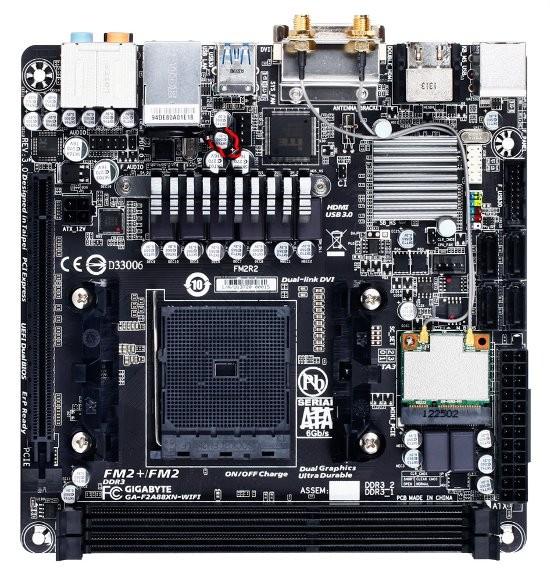 Малогабаритная оплата GA-F2A88XN-WIFI от Gigabyte