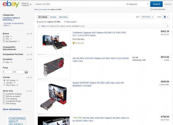 Быстрая распродажа видеокарты Radeon R9 290X в США