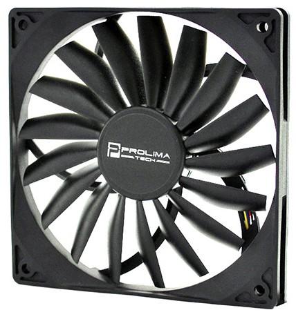 Слабый 120-мм вентилятор шириной 15 миллиметров от Prolimatech Inc.